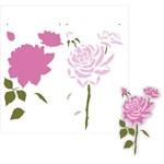 Stencil de Acetato para Pintura Opa Simples 30,5 X 30,5 Cm - 2205 Flor Rosas