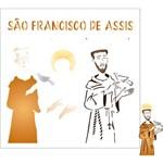 Stencil de Acetato para Pintura Opa Simples 30,5 X 30,5 Cm - 2206 Religião S. Francisco de Assis