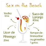 Stencil de Acetato para Pintura Opa Simples 30,5 X 30,5 Cm - 2198 Drink Sex On The Beach