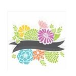 Stencil de Acetato para Pintura Opa Simples 30,5 X 30,5 Cm - 2469 Fita com Flores