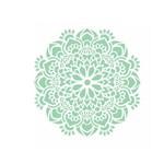 Stencil de Acetato para Pintura Opa Simples 30,5 X 30,5 Cm - 2470 Mandala Flor Bauer