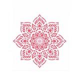 Stencil de Acetato para Pintura Opa Simples 20 X 25 Cm - 2459 Mandala Flor Oito Pontas