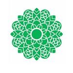 Stencil de Acetato para Pintura Opa Simples 20 X 25 Cm - 2462 Mandala Folhas