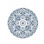 Stencil de Acetato para Pintura Opa Simples 20 X 25 Cm - 2460 Mandala Flor Redonda