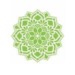Stencil de Acetato para Pintura Opa Simples 20 X 25 Cm - 2461 Mandala Flor Renda