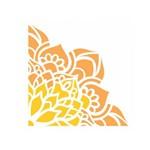 Stencil de Acetato para Pintura Opa Simples 10 X 10 Cm - 2413 Cantoneira Flor de Lótus