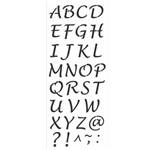 Stencil de Acetato para Pintura Opa Simples 17 X 42 Cm - 2503 Alfabeto Maiúsculo