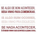 Stencil de Acetato para Pintura Opa Simples 32 X 42 Cm - 2208 Frase Vinho
