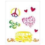Stencil de Plástico para Pintura Opa 20 X 25 Cm - 1275 Paz e Amor