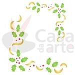 Stencil de Plástico para Pintura Opa 15 X 20 Cm - 1114 Cantoneira de Natal
