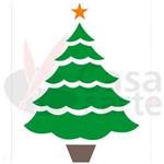 Stencil de Plástico para Pintura Opa 15 X 20 Cm - 873 Pinheiro de Natal