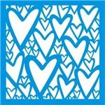 Stencil Época Coração 10x10 ST-X196 - Litoarte