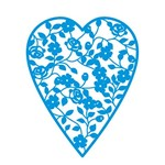 Stencil Época Coração com Flor 16x18 Sta2003 - Litoarte