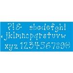 Stencil Grande Letras e Numeros 17x42 Stg-022 Litoarte 17x42