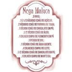 Stencil Litoarte 20,5x13,5 STA2-032 Receita Nega Maluca