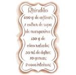Stencil Litoarte 20,8x11,3 STA2-035 Receita Quindão