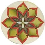 Stencil Litoarte 30x30 STQG-003 Mandala Flor Margarida