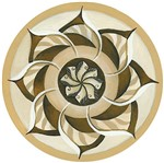 Stencil Litoarte 30x30 STQG-002 Mandala Flor