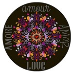 Stencil Litoarte 30x30 STQG-011 Mandala Amor Amour