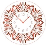 Stencil Litoarte 30x30 STQG-017 Relógio Trabalhado