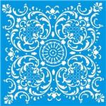 Stencil Litoarte 30x30 STQG-024 Azulejo de Arabescos