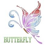 Stencil Litoarte 20x20 STXX-021 Butterfly
