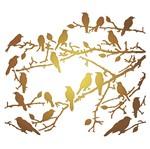 Stencil Litoarte 20x20 STXX-016 Pássaros em Galhos
