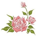 Stencil Litoarte 20x20 STXX-040 Rosas com Botões