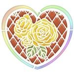 Stencil Litoarte 20x20 STXX-039 Coração com Rosas