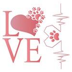 Stencil Litoarte 20x20 STXX-108 Love Cachorro