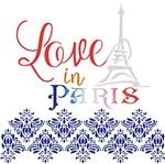 Stencil Litoarte 20x20 STXX-109 Love In Paris