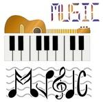 Stencil Litoarte 20x20 STXX-113 Violão Piano e Music
