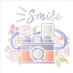 Stencil Litoarte 20x20 STXX-141 Máquina Fotográfica