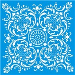 Stencil Litoarte 20x20 STXX-151 Azulejo de Arabescos