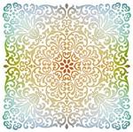 Stencil Litoarte 20x20 STXX-128 Ornamentos Florais
