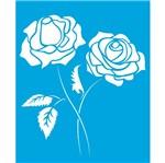 Stencil Litoarte 21,1x17,2 STM-147 Flores Rosas