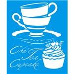 Stencil Litoarte 21,1x17,2 STM-170 Chá Tea Cupcake