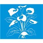 Stencil Litoarte 21,1x17,2 STM-318 Flor Copo de Leite