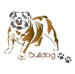 Stencil Litoarte 21,1x17,2 STM-505 Cachorro Bulldog