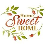 Stencil Litoarte 21,1x17,2 STM-510 Home Sweet Home e Folhas