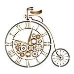 Stencil Litoarte 21,1x17,2 STM-543 Bicicleta de Circo