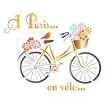 Stencil Litoarte 21,1x17,2 STM-579 Bicicleta Paris