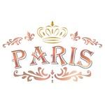 Stencil Litoarte 21,1x17,2 STM-587 Paris Coroa
