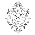 Stencil Litoarte 21,1x17,2 STM-594 Relógio Ornamentado