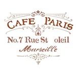 Stencil Litoarte 21,1x17,2 STM-598 Selo Café Paris