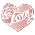 Stencil Litoarte 21,1x17,2 STM-641 Coração Love Rosa