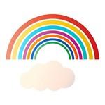 Stencil Litoarte 21,1x17,2 STM-635 Arco-Íris com Nuvem