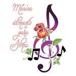 Stencil Litoarte 21,1x17,2 STM-678 Clave Rosa e Frase de Música