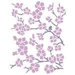 Stencil Litoarte 21,1x17,2 STM-268 Floral