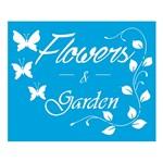 Stencil Litoarte 21,1x17,2 STM-384 Flores e Garden